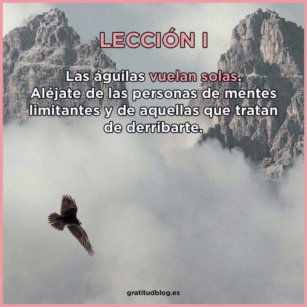 1º Consejos del Águila - Las águilas vuelan solas.